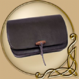 LARP Leather bag, wide shape